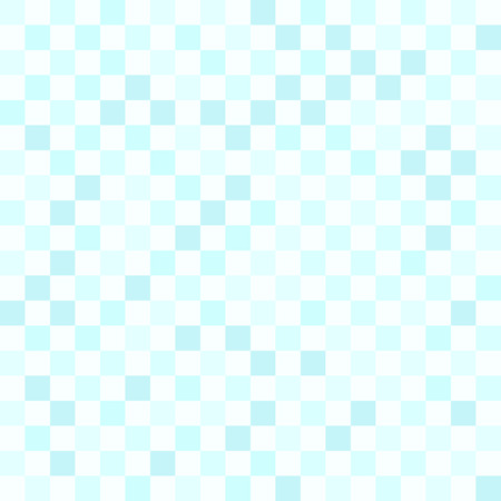 Cyan checkerboard pattern. Seamless vector background - blue checkered squares on light cyan backdrop