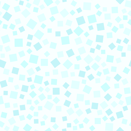 Cyan square pattern. Seamless vector background - blue squares on light cyan backdrop Illustration