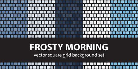 frosty morning: Square pattern set Frosty Morning