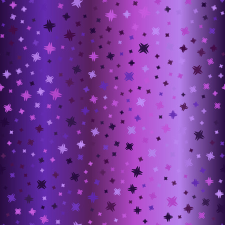 Gradient abstract pattern. Seamless vector glowing background - amethyst, lavender, plum, purple, violet shapes on gradient backdrop Illustration