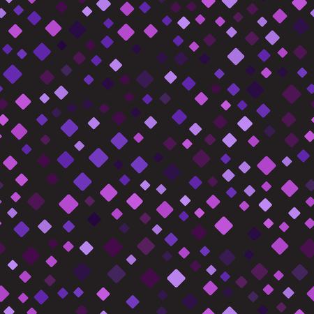 ダイヤモンド バック グラウンド。シームレスなベクトル パターン - アメジスト、ラベンダー、梅、黒の背景に異なるサイズの紫、紫の丸いダイヤ  イラスト・ベクター素材