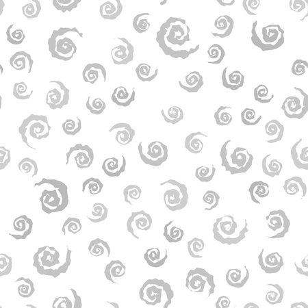 Gray spiral pattern. Seamless vector background - gray spirals on white backdrop