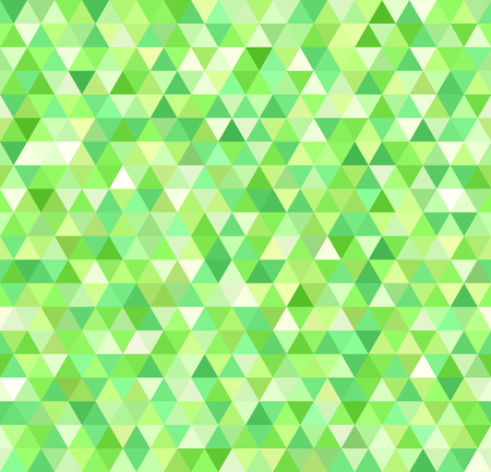 Seamless vector background with green triangles