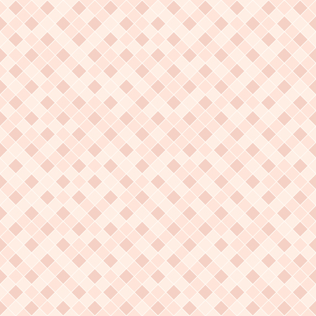 Rose diamond pattern. Seamless vector background - dar and light red square diamonds on light pink backdrop