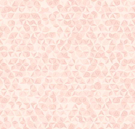 Rose triangle pattern. Seamless vector background - red triangles on light pink backdrop Çizim