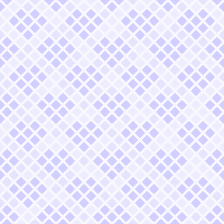Violet diamond pattern with hearts. Seamless vector background - violet hearts made of diamonds on light lavender backdrop
