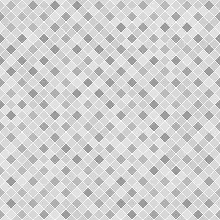 Gray checkered diamond pattern. Seamless vector background - dark and light square diamonds on white backdrop Illustration