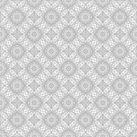 Gray ornate pattern. Seamless vector background - gray flowers on white backdrop