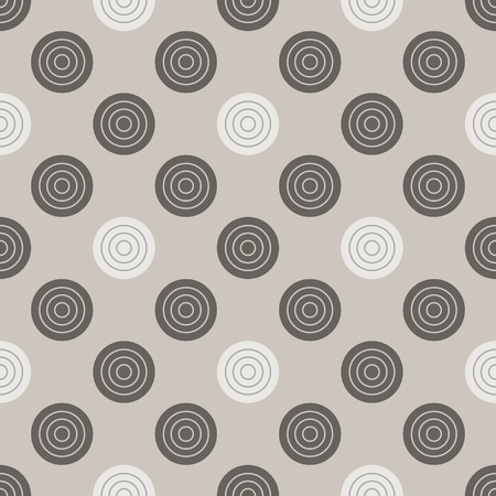 Checkers pattern. Seamless vector game background with gray and white draughts on beige backdrop