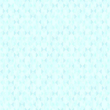Cyan shape pattern. Seamless vector background - blue triangles on light cyan backdrop