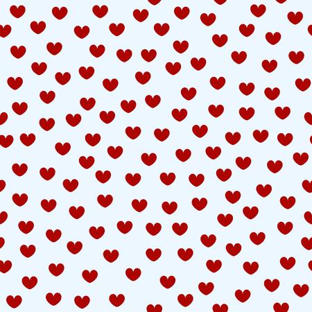 心のパターン。バレンタイン愛のシームレスなベクトルの背景  イラスト・ベクター素材