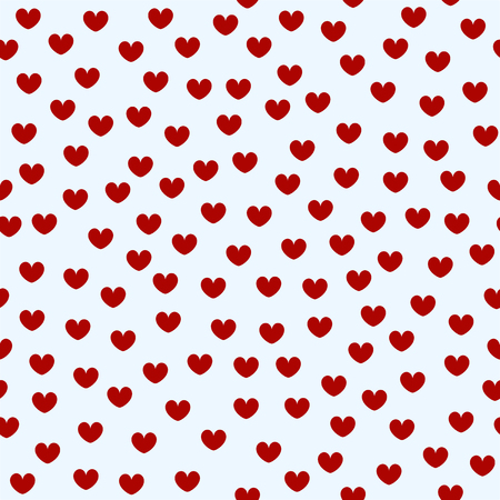 Heart pattern. Seamless vector valentine love background Ilustracja