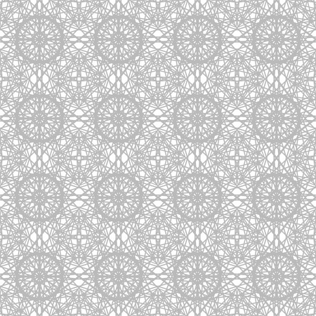Gray ornate pattern. Seamless vector background - grey ornament on white backdrop