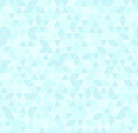 Cyan triangle pattern. Seamless vector background - blue triangles on light cyan backdrop Çizim