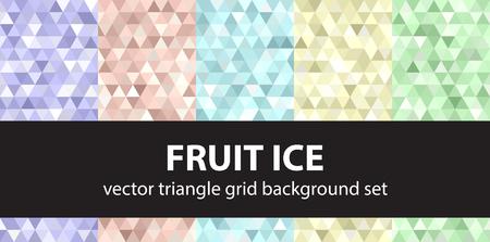 Pattern set of Fruit Ice Vector seamless Çizim