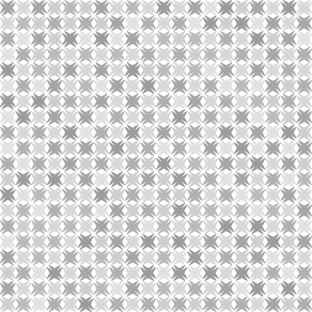 Gray checkered abstract pattern. Seamless vector background - gray shapes on white backdrop Illustration