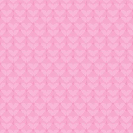 心のパターン。ベクトル シームレスなロマンチックな背景 - ピンク背景に光 overlappes ハート 写真素材 - 81499478