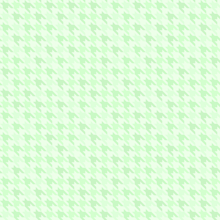 Green houndstooth pattern. Seamless vector background - dark and light green shapes on light mint backdrop