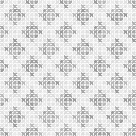 Gray and white abstract pattern. Seamless vector background with dark and light gray shapes on white backdrop