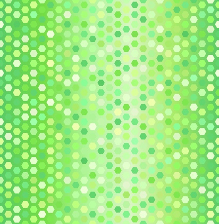 Glowing hexagon pattern.