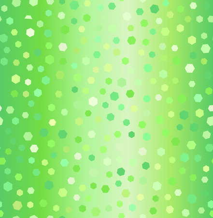 Hexagon pattern. Seamless vector background - green hexagons of different size on gradient backdrop