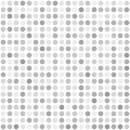 Silver dot pattern. Seamless vector background - gray, silver and white circles on white backdrop Illustration