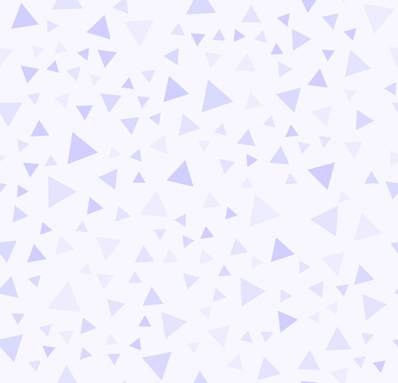 Violet triangle pattern. Seamless vector background - lilac triangles on light lavender backdrop
