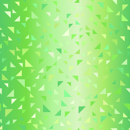 Glossy green right triangle pattern. Seamless vector background - green triangles on gradient backdrop