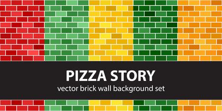 Brick pattern set Pizza Story.