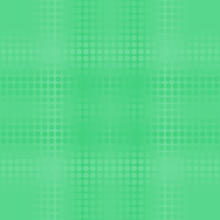 Green dot gradient pattern. Vector seamless background with emerald dots on glowing green backdrop Illustration