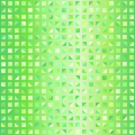 Glossy triangle pattern. Seamless vector background with green right triangles on gradient backdrop Illustration