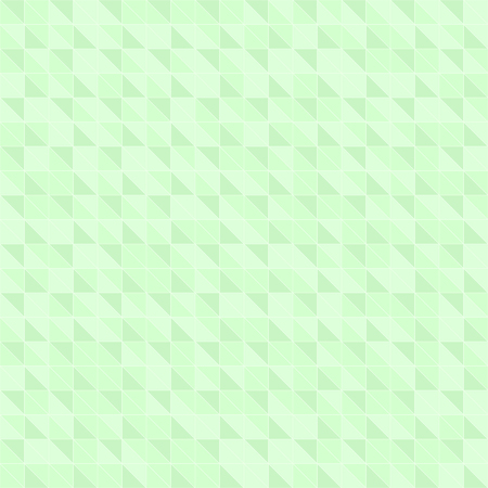 Green right triangle pattern. Seamless vector background with green triangles on light mint backdrop