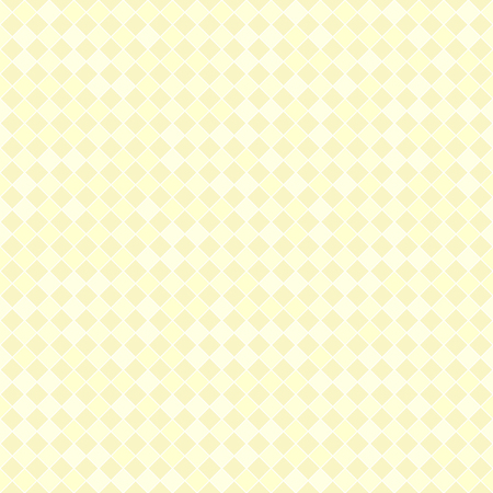 Yellow checkered pastel diamond pattern. yellow diamonds on light yellow backdrop Illustration