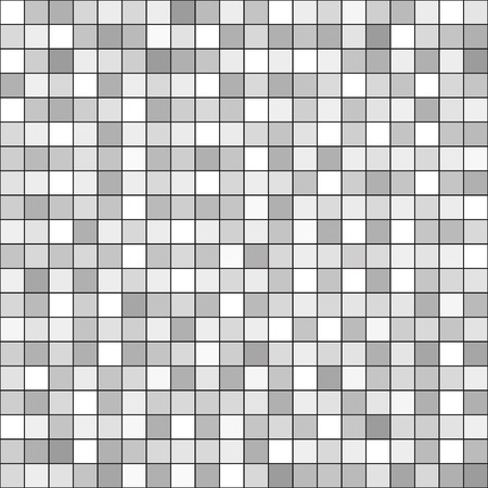 arsenic: Square pattern. Seamless vector background - gray, silver and white squares on black backdrop