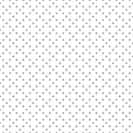 Gray diamond pattern. Seamless vector lozenge background - gray quadratic diamonds on white backdrop