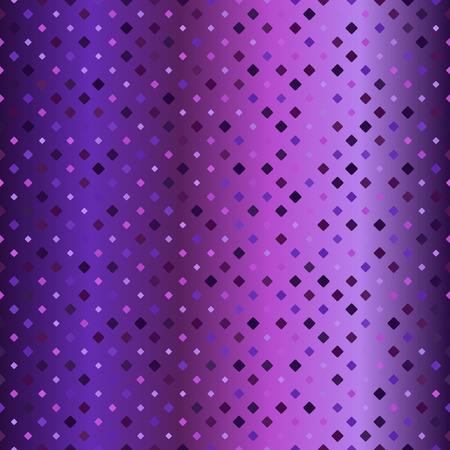 Glowing diamond pattern. Seamless vector backgound - amethyst, lavender, plum, purple, violet rounded diamonds of different size on gradient backdrop Illustration