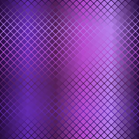 Gradient rounded diamond pattern. Seamless vector background - amethyst, lavender, plum, purple, violet rounded diamonds on gradient backdrop Illustration