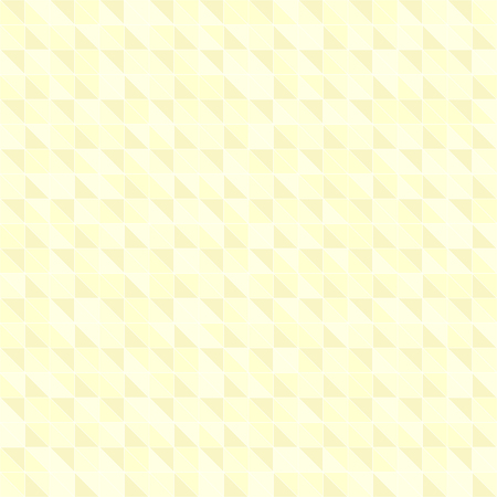 Yellow pastel triangle pattern. Seamless vector background - yellow right triangles on light yellow backdrop