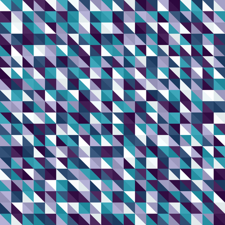 Right triangle pattern. Seamless vector background with amethyst, blue, green, lavender, purple, teal, white right triangles
