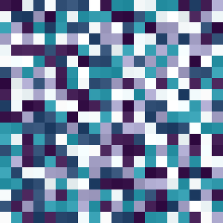 Seamless vector square background with amethyst, blue, green, lavender, purple, teal, white squares