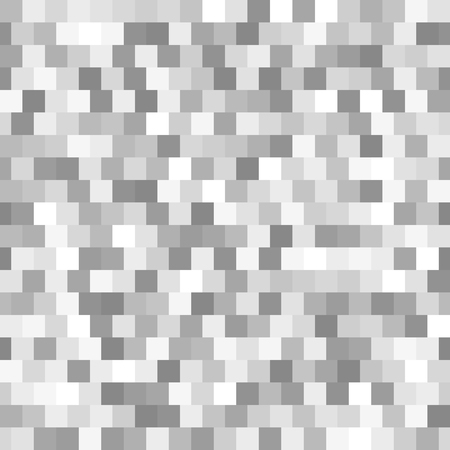 Gray square pattern. Seamless vector background with dark and light gray squares