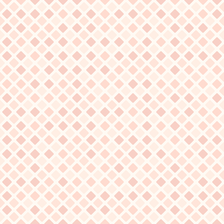 Rose rounded diamond pattern. Seamless vector background - red rounded diamonds on light pink backdrop Illustration