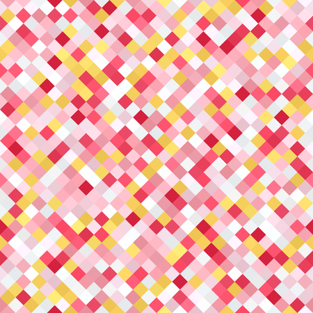 Diamond pattern. Seamless vector background with yellow, rose, white, orange, gray diamonds