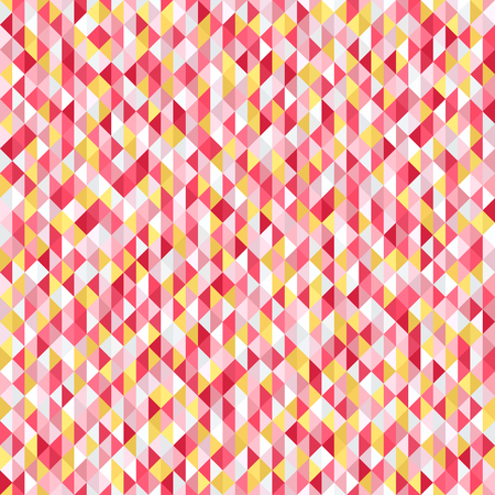 A Triangle pattern. Seamless vector background with yellow, rose, white, orange, gray triangles