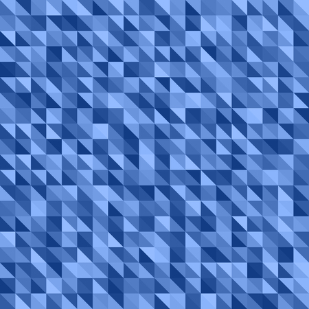 Right triangle pattern. Seamless vector background with dark and light blue triangles
