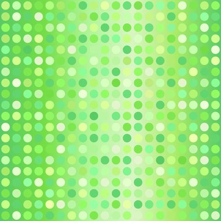 Polka dot pattern. Vector seamless dot background - green dots on gradient backdrop Ilustrace