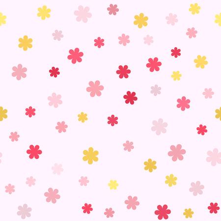 Flower pattern Seamless vector backgrounds on light backdrop. Ilustracja