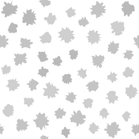 Gray blots seamless pattern on white backdrop. Çizim