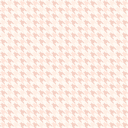 Rose houndstooth pattern. Seamless vector background