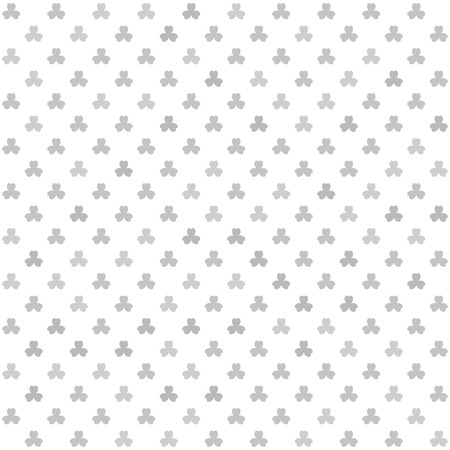 Shamrock pattern. Seamless vector background - gray leaves on white backdrop